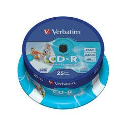 Диск CD-R Verbatim 700Mb 52x DataLife+Cake Box Printable (25 шт) (43439)
