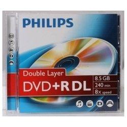 Диск DVD+R Philips 8.5Gb 2.4-8x Jewel Case (DR8S8J01F/97) (1шт)