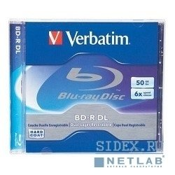BD-R Verbatim 6-x 50 Gb Jewel Case Ink Print (43736, 43735)