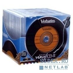 Диск 43426 Диски CD-R Verbatim VINIL,  700Mb 80 min,  48-X, 52-X (Slim Case,  10 шт.)